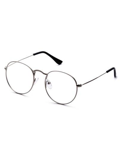 Silver Delicate Frame Clear Lens Glasses