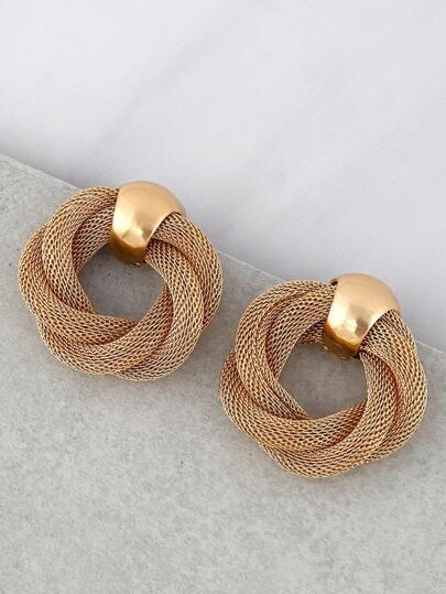 Braided Vintage Inspired Earrings GOLD