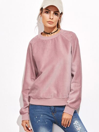 Sweat-shirt manche raglan - rose