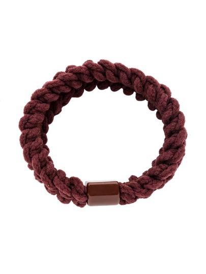 Brown Braided Elastic Hair Tie