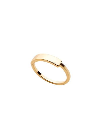 Gold Plated Geometric Smooth Design Ring