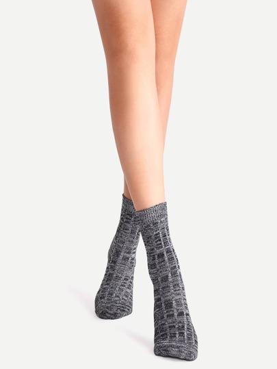 Black Mottled Ankle Socks