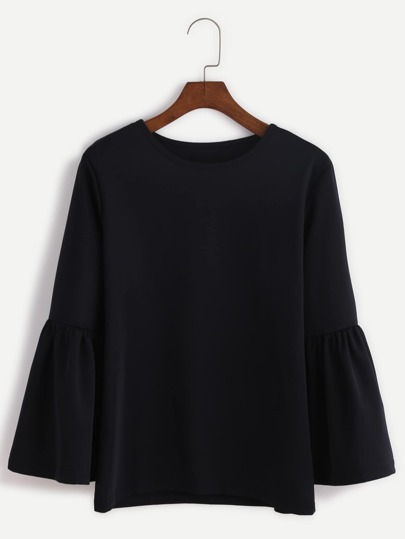 Fluted Sleeve T-shirt