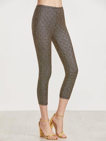 Gold Crop Sparkle Leggings