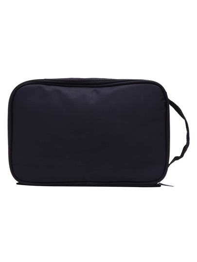 Black Nylon Travel Makeup Bag