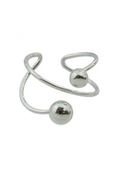 Phantasie Metall Manschettenband  Stil Ring-silber