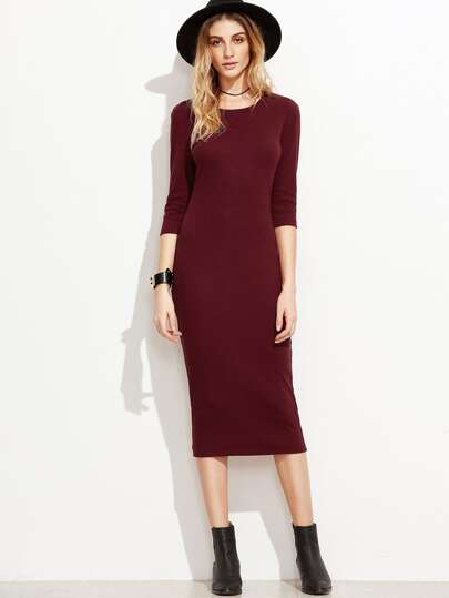 3/4 Sleeve Pencil Dress