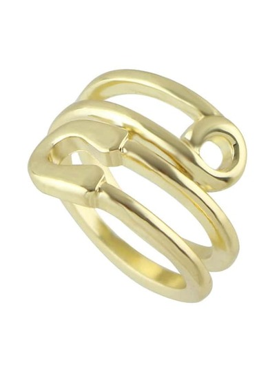 New Simple Gold Color Metal Band Ring