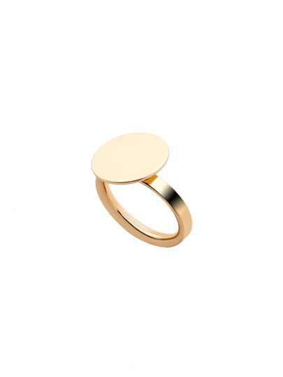 Gold Plated Coin Finger Ring