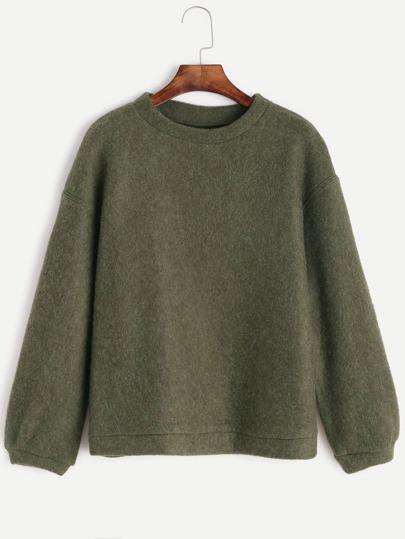 Army Green Drop Shoulder Sweatshirt
