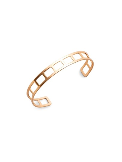 Gold Plated Geometric Hollow Out Wrap Bangle