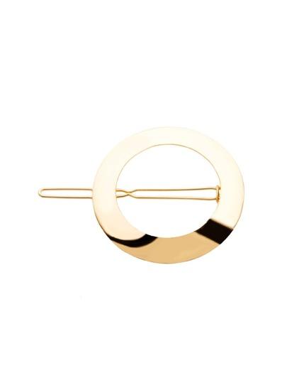 Gold Plated Hollow Circle Hair Clip