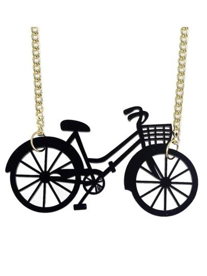 Collana Con Pendente Forma Bicicletta