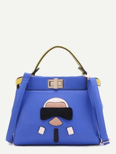 حقيبة يد زرقاء PU