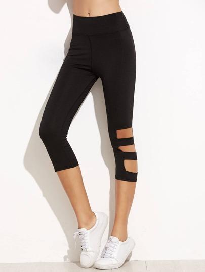 Black Cut Out Skinny Leggings