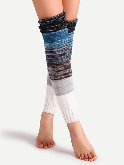 متعدد الألوان المرقعة زر حك تدفئة الساق