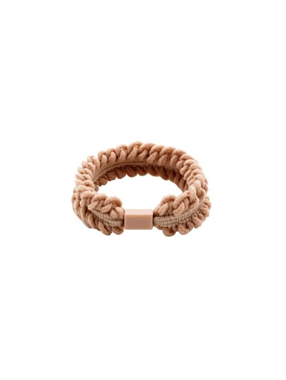 Beige Braided Elastic Hair Tie