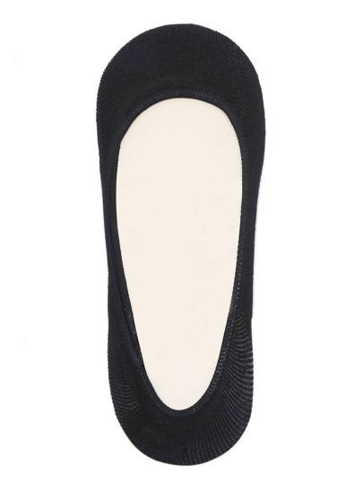 Chaussettes plain pour femmes - noir