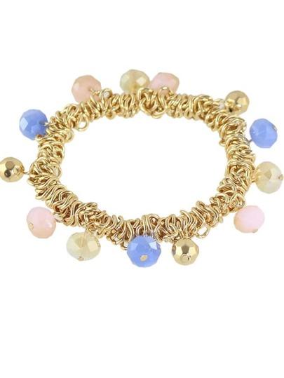 Bracelet en style de bohemian avec perle - rose