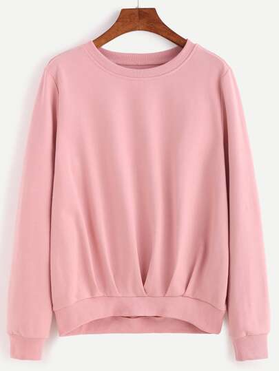 Pleated Detail Sweatshirt