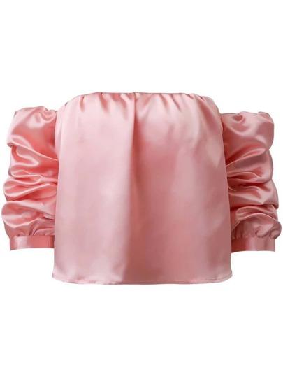 Pink Off The Shoulder Crop Top