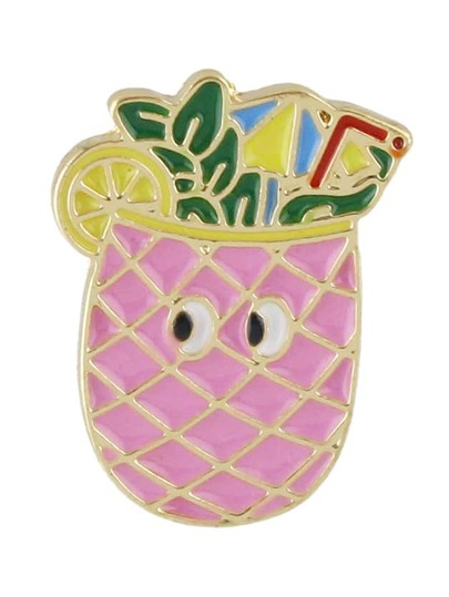 New Coming Cute Pineapple Shape Big Brooch