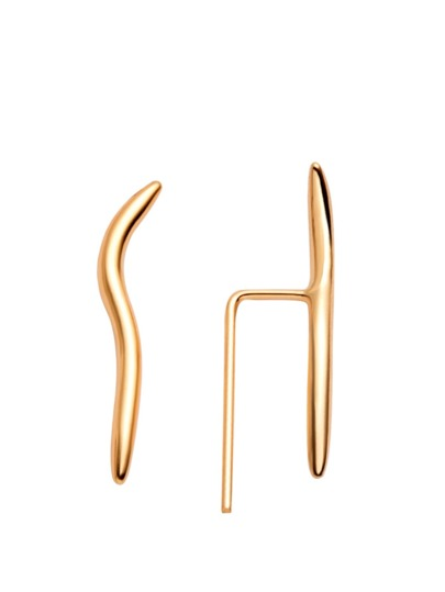 Gold Curved Ear Pins
