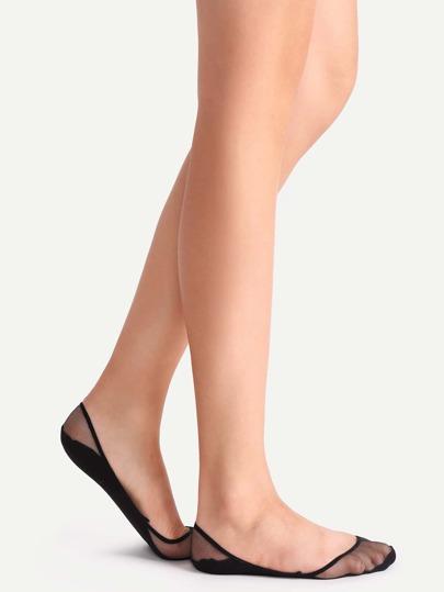 جوارب شفافة سوداء