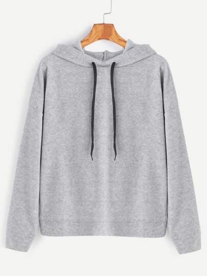 Sudadera con capucha espalda cruzada - gris claro