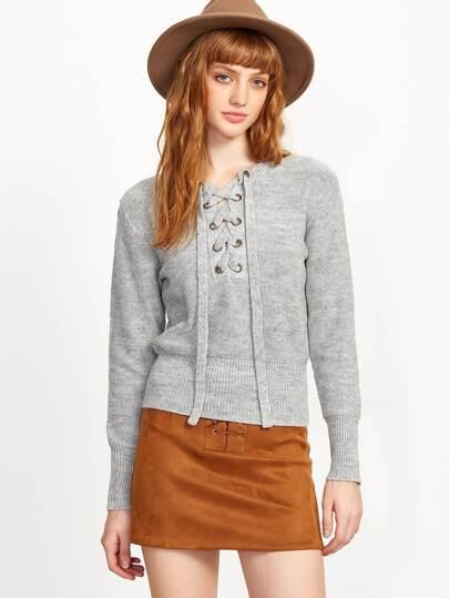 Jersey con cordón - gris