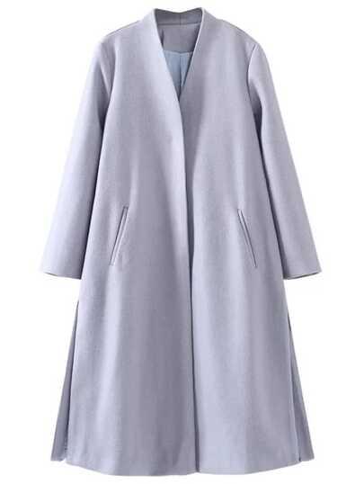 Серая длинная куртка с вырезом на кулиске