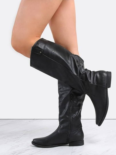 Western Knee Boots BLACK