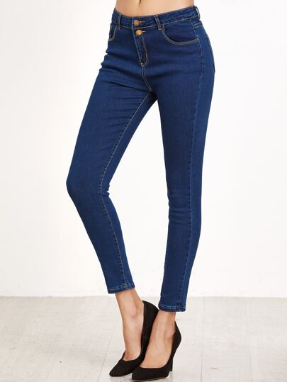 Blue Skinny Jeans With Pocket
