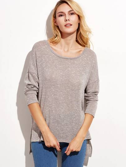 Heather Grey Drop Shoulder T-shirt