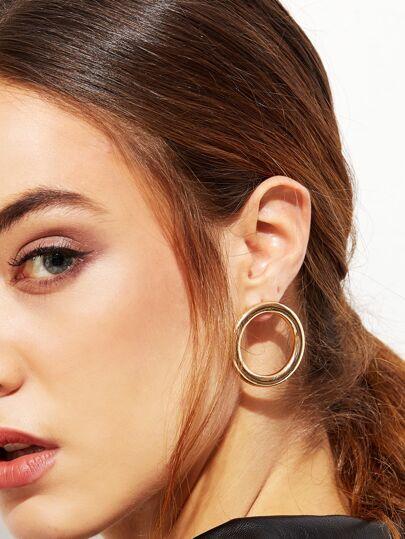 Boucles d'oreille rondes - doré