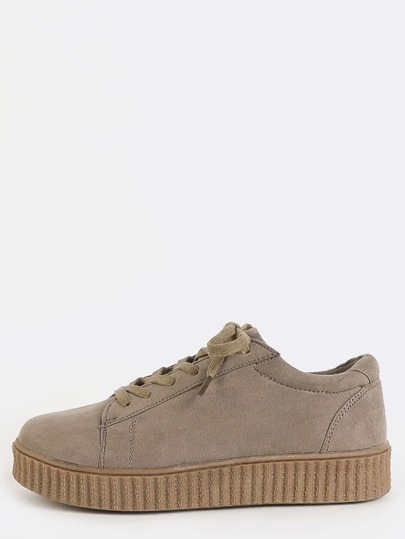 Gum Sole Platform Sneakers TAUPE