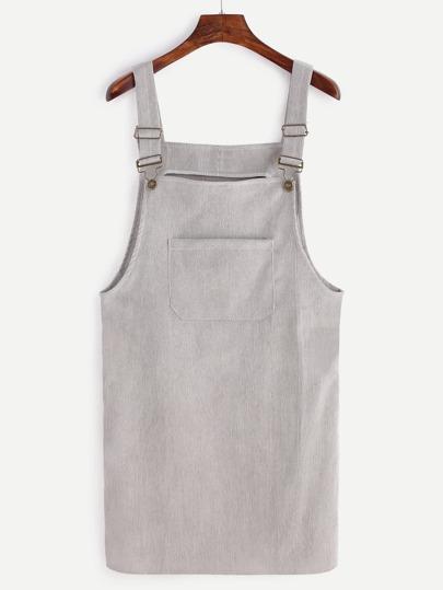 Pichi de pana con bolsillo - gris
