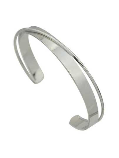 New Silver Color Adjustable Metal Cuff Bracelet