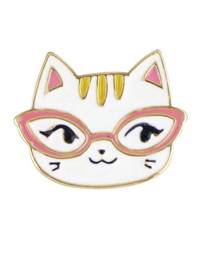 Broche en forma de gato