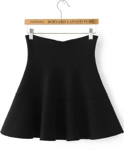 Falda plisada de punto - negro
