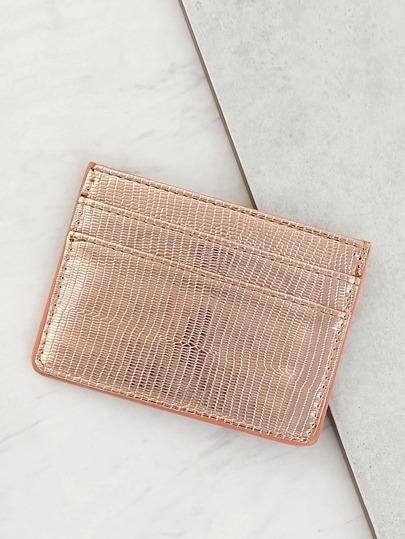 Metallic Wallet ROSE GOLD