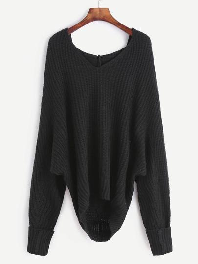 Jersey con capucha - negro