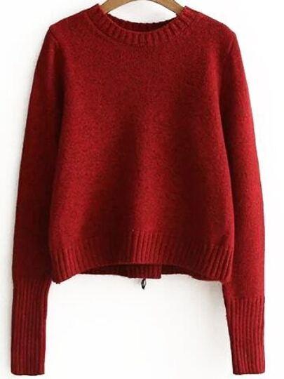 Jersey con cordón en espalda - rojo