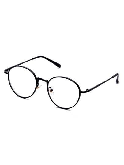 Matte Black Frame Clear Lens Sunglasses
