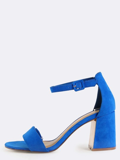 Faux Suede Reflective Heels BLUE