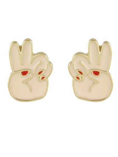Pink New Coming Cute Enamel Hand Shape Brooch