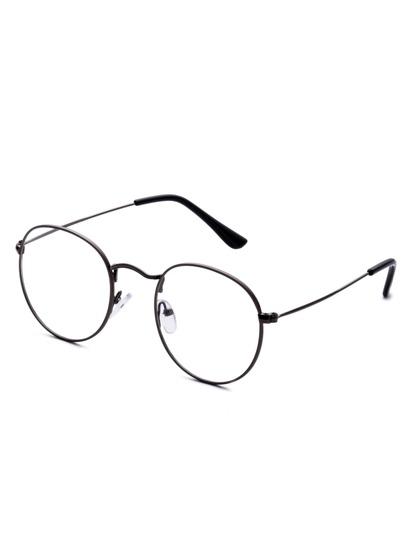 Gafas de sol con marco gris oscuro y lentes transparente