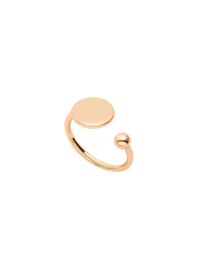Gold Plated Minimalist Wrap Open Ring