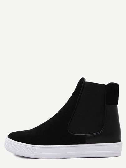Nubuck Leather Rubber Sole Chelsea Boots