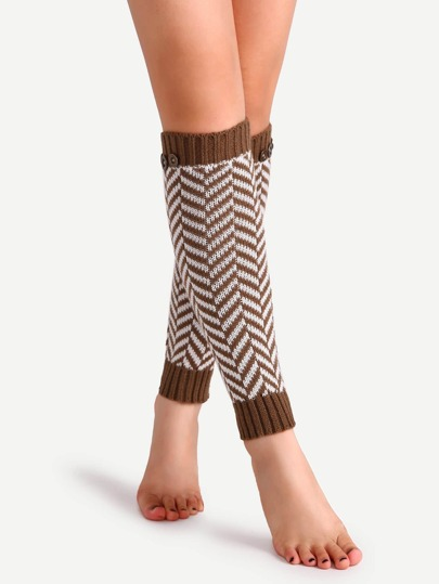 جوارب الساق محبوكة كاكية داكنة